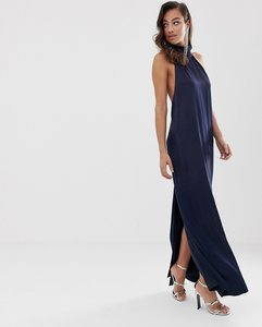 Read more about Asos edition halter column maxi dress in satin
