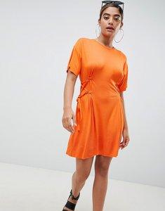 Read more about Asos mini t-shirt dress with corset detail - orange