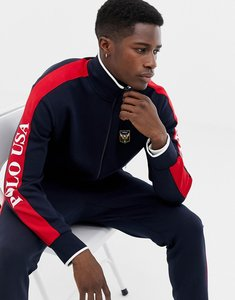 Read more about Polo ralph lauren track jacket with sleeve logo and badging in navy