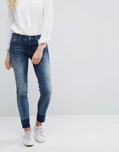 Read more about Polo ralph lauren mid rise skinny stretch jeans with released hem - blue