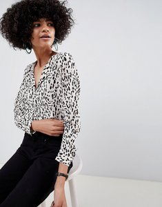 Read more about Selected femme animal print blouse - multi