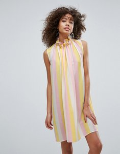Read more about Traffic people high neck striped shift dress - multi