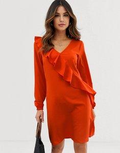 Read more about Vila ruffle panel dress - orange com