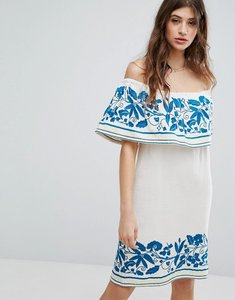 Read more about Maison scotch boho off the shoulder dress with embroidery - 17