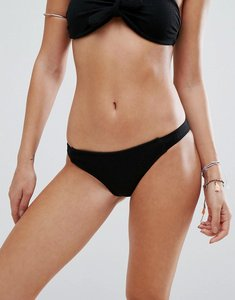 Read more about Motel textured bikini bottom - black textured