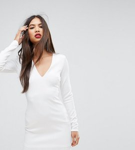 Read more about Missguided shoulder pad scuba mini dress - white
