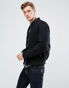Read more about Bellfield wool blend bomber jacket - black