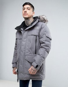 Read more about The north face mcmurdow down insulated parka jacket with detachable faux fur hood in grey - tnf medm