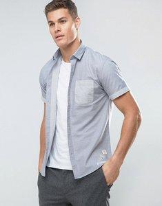 Read more about Lindbergh contrast pocket short sleeve shirt - light blue