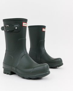 Read more about Hunter original short wellies in green - green