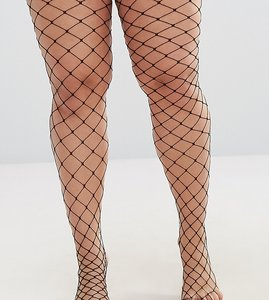 Read more about Asos curve oversized fishnet tights - black