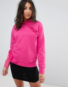 Read more about Miss selfridge high neck ruffle sweater - pink