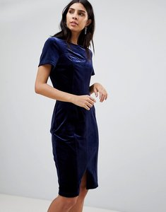 Read more about Paper dolls belted velvet dress - navy