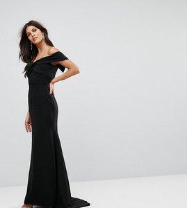 Read more about Jarlo off shoulder overlay maxi dress - black