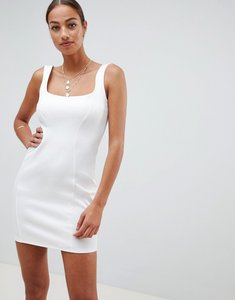 Read more about Asos design scuba 90s scoop neck mini dress - ivory