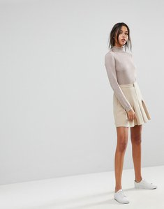 Read more about Max co zip pleated skirt - beige