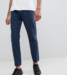 Read more about D-struct tall elastic waist cropped chino trousers - navy