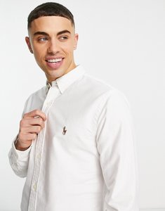 Read more about Polo ralph lauren oxford shirt in slim fit white - white