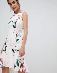 Read more about Coast campbell scuba skater dress in floral print - multi 1