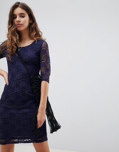 Read more about Glamorous lace midi dress - navy
