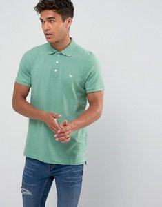 Read more about Abercrombie fitch polo muscle slim fit stretch pique in pine green - green