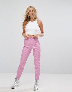 Read more about Miss selfridge high waist vinyl trouser - pink