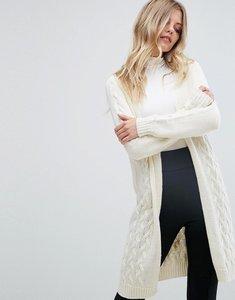 Read more about Vero moda long open knit cardigan - cream