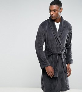 Read more about French connection tall fleece dressing gown - grey