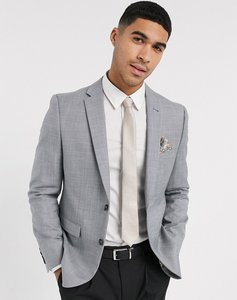 Read more about Harry brown wedding tonal skinny fit suit jacket - grey