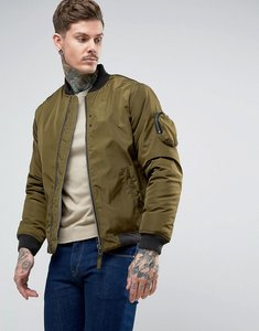 Read more about Bellfield ma1 bomber jacket - green