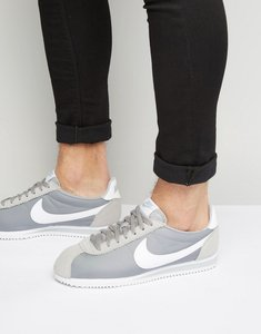 Read more about Nike classic cortez nylon trainers in grey 807472-010 - grey