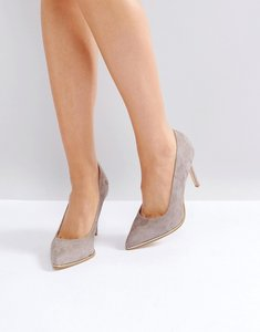 Read more about Kg by kurt geiger beauty suede court shoes - taupe