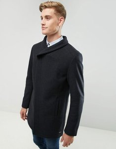 Read more about Esprit wool overcoat with funnel neck - dark grey 020