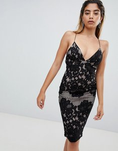 Read more about Ax paris lace midi pencil dress - black