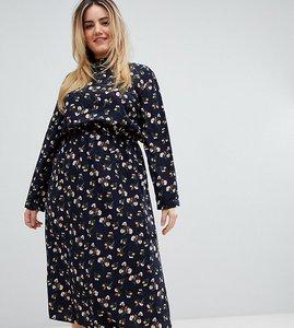 Read more about Uttam boutique plus long sleeve floral midi dress - navy