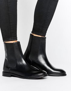 Read more about H by hudson flat leather chelsea boot - black leather