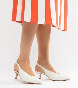 Read more about Coco wren wide fit pointed kitten heels - white