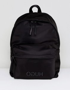 Read more about Hugo record back pack nylon in black - black