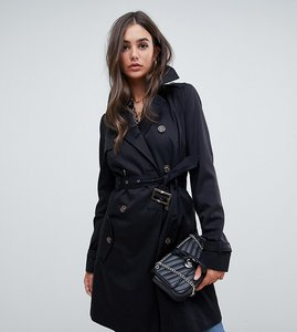 Read more about Asos design tall classic trench coat - black