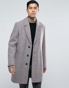 Read more about Asos harris tweed overcoat in pink melange - pink