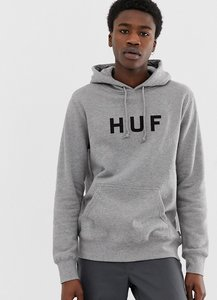Read more about Huf original logo overhead hoodie in grey - grey