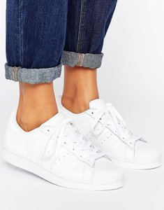 Read more about Adidas originals foundation all white superstar trainers - ftwr white