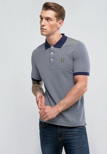 Read more about Lyle scott stripe logo polo shirt navy - z99 navy