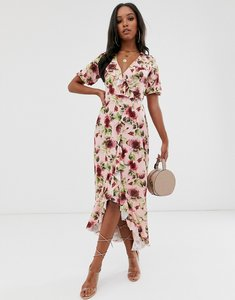 Read more about Asos design frill wrap maxi dress in floral print