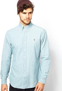 Read more about Polo ralph lauren shirt in chambray denim slim fit