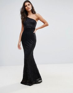 Read more about Ax paris one shoulder fishtail dress - black