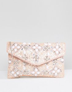 Read more about True decadence envelope beaded clutch bag - pink