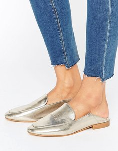 Read more about Raid olivia gold metallic mule loafers - gold metallic