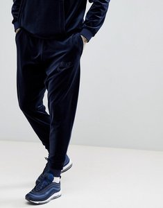 Read more about Nike velour joggers in navy ah3388-451 - navy