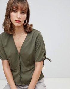 Read more about Vero moda button through blouse - ivy green